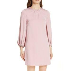 Ted Baker Joele Embellished Cuff Shift Dress